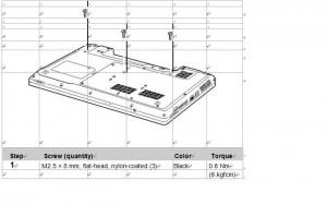 removal lenovo z560 / z565 keyboard step 1